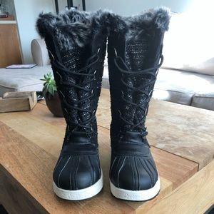 NWOB Tall Black Winter Boots